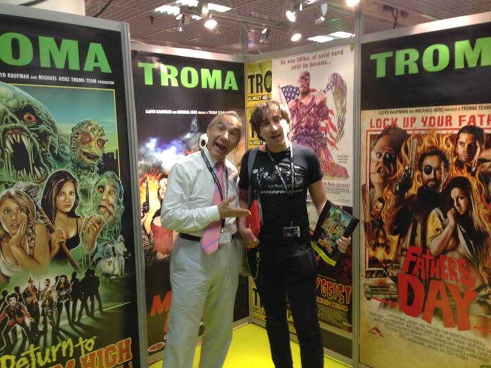finalmente faccia a faccia con sua maestà Lloyd Kaufman della Troma!!!