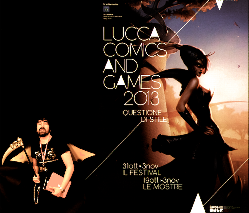 saluti dal Lucca Comics and Games!